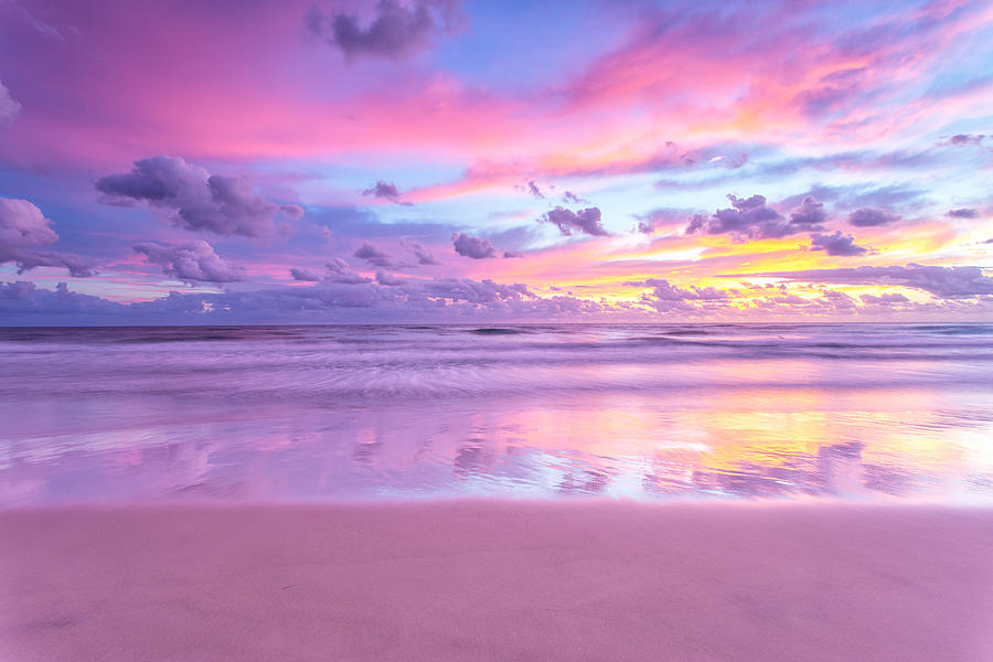 A Cotton Candy Sunrise At The Beach Photograph