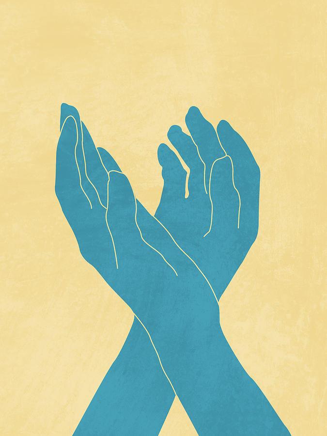 Dance Of Joy 1 - Minimal Contemporary Abstract Mixed Media
