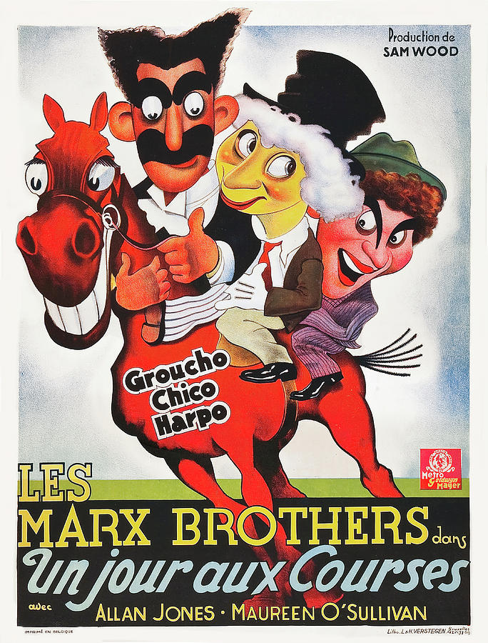 Day Mixed Media - A Day at the Races, with the Marx Brothers, 1935 by Stars on Art