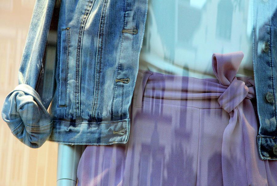 A Denim Jacket Abstract Photograph