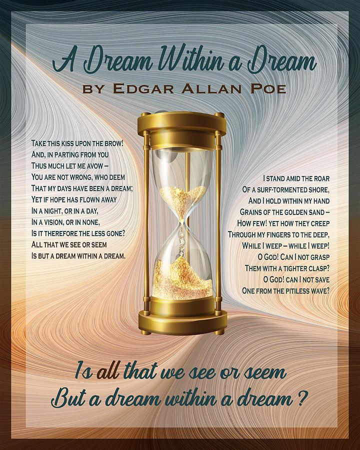 A Dream Within A Dream - Hourglass - Version 2 Digital Art