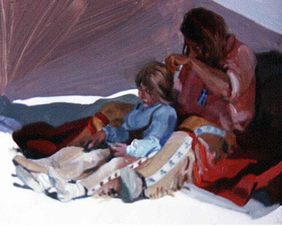 Fathers And Daughters Painting - A Fathers Touch by Betty Jean Billups