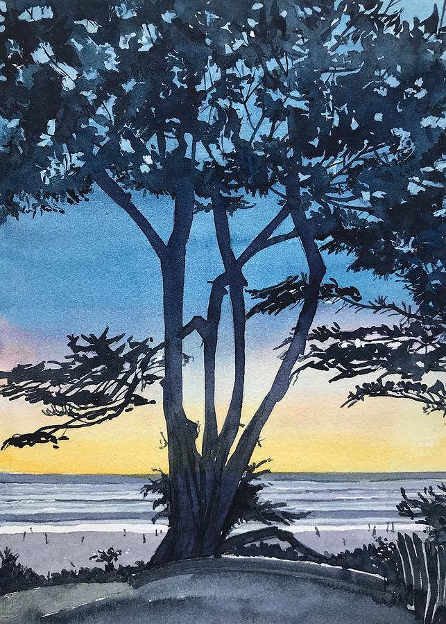 A Favourite Tree - Scenic Drive - Carmel Painting