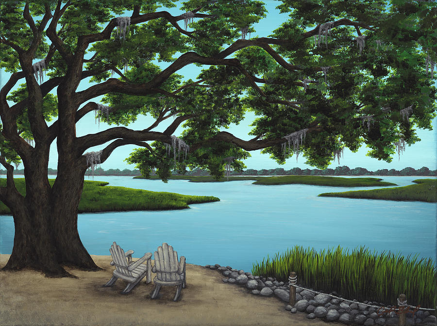 Marsh Painting - A Fine Life Indeed by Carolyn Bland