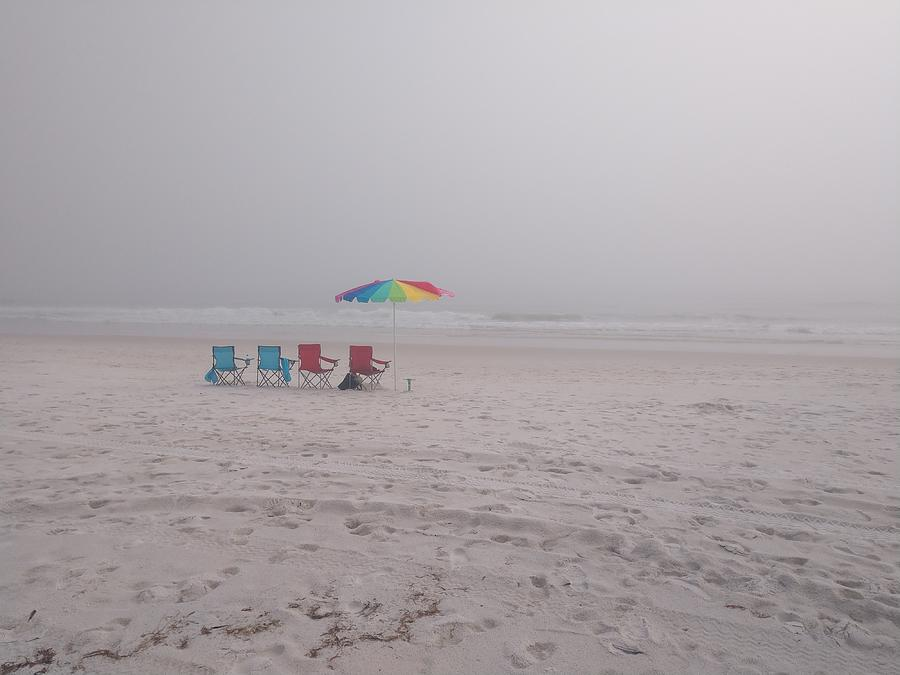 A Foggy Beach Day by Pamela Williams