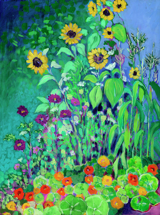 A Garden View Painting