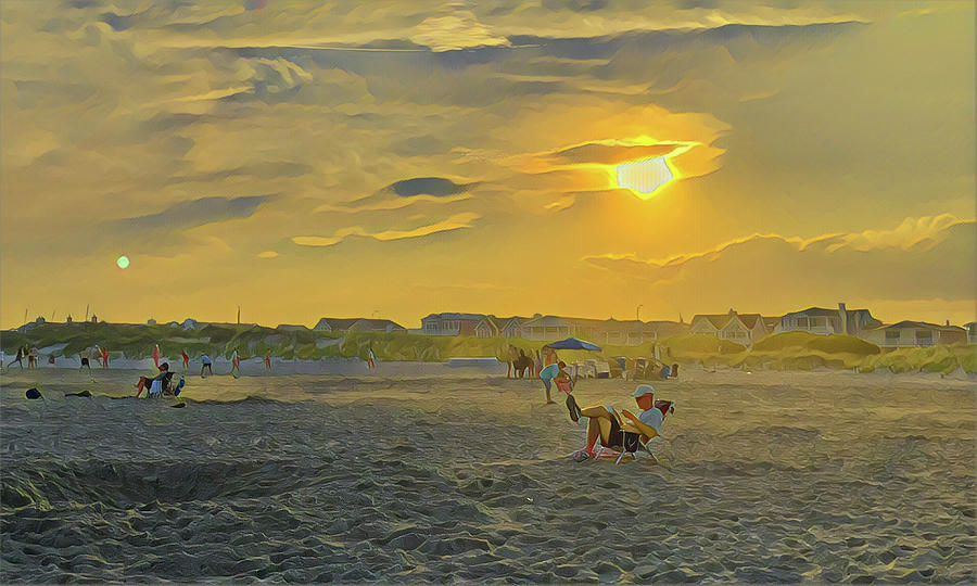 A Good Beach Read Digital Art