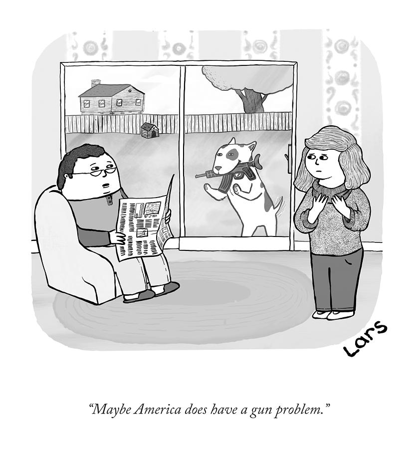 A Gun Problem Drawing by Lars Kenseth