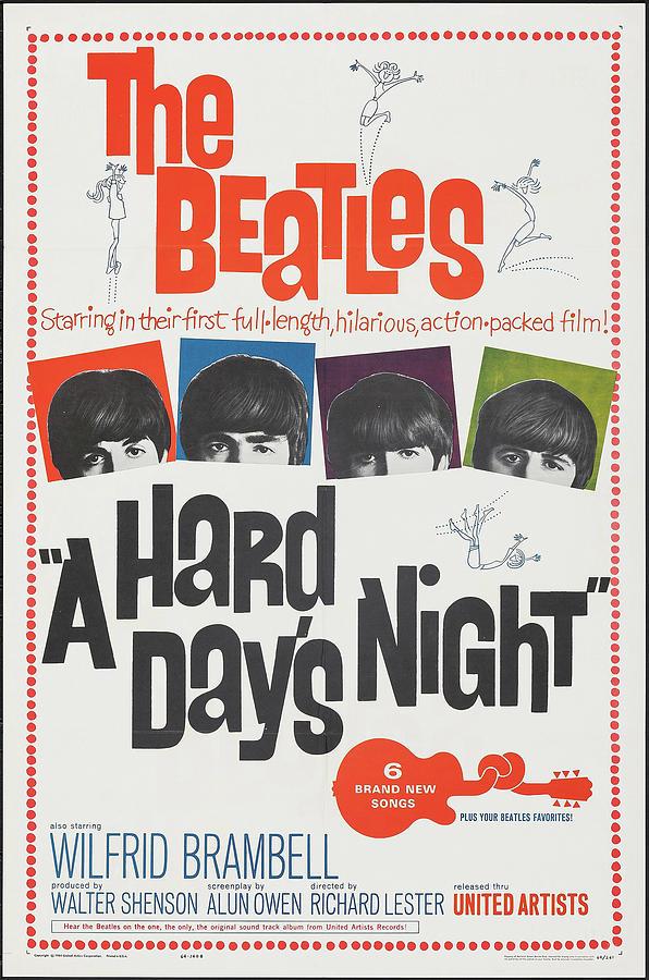 a Hard Days Night Poster 1964 Mixed Media