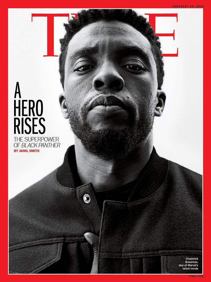 Chadwick Boseman Photograph - A Hero Rises by Photograph by Williams and Hirakawa for TIME
