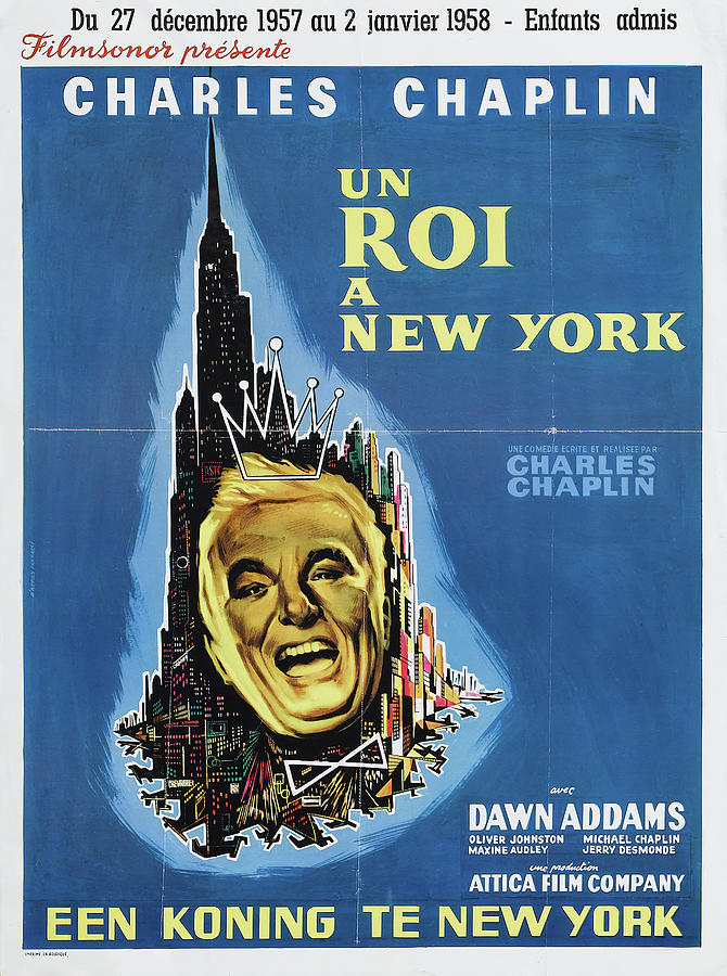 a King In New York, With Charles Chaplin, 1957 Mixed Media