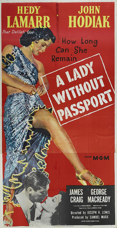 a Lady Without Passport, With Hedy Lamarr, 1950 Mixed Media