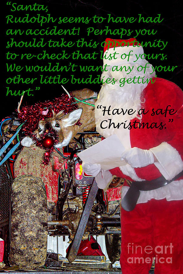 Christmas Card Photograph - A Letter for Santa by Broken Soldier