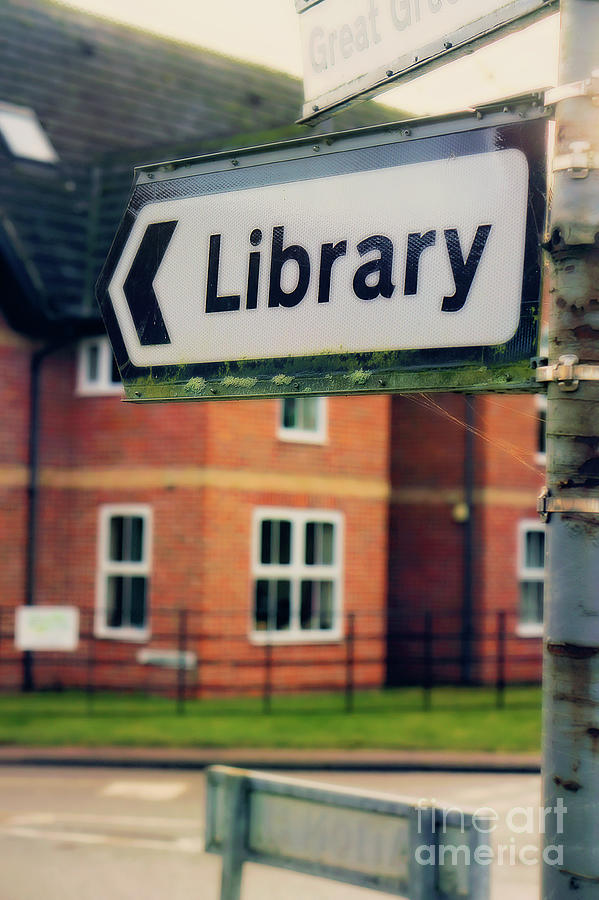Archive Photograph - A Library Sign by Tom Gowanlock