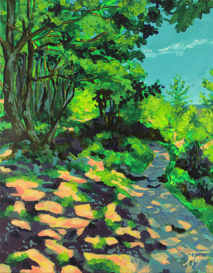 Houston Painting - A Light on my Path by Allison Fox