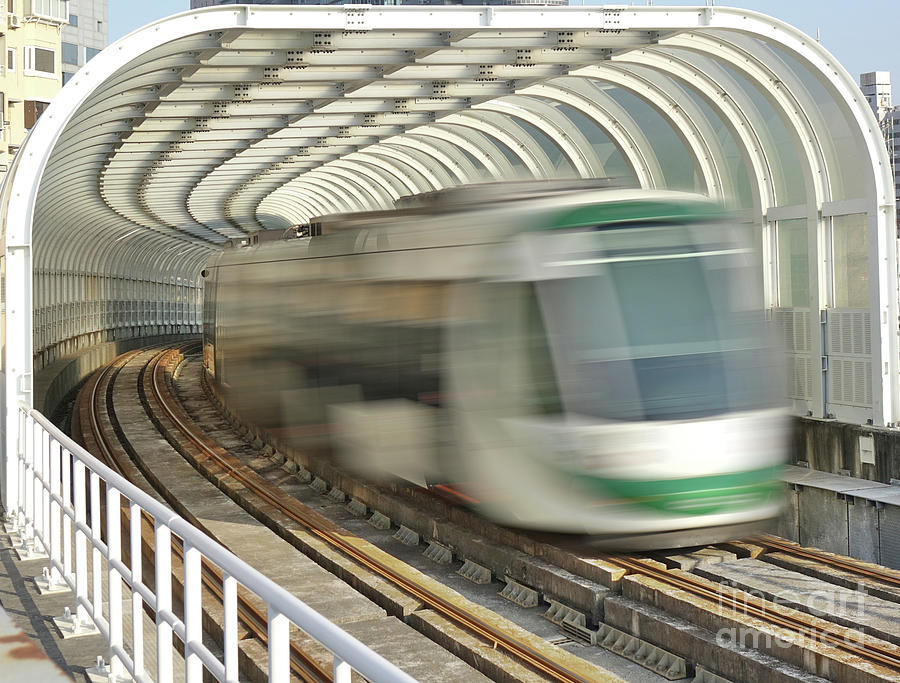 A Light Rail Train by Yali Shi