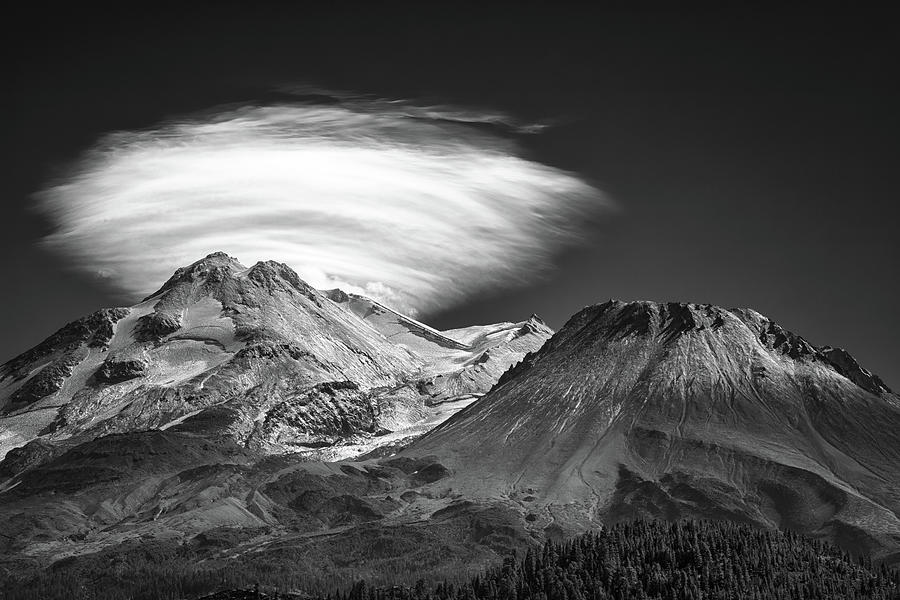 A Little Flare In Black And White Photograph
