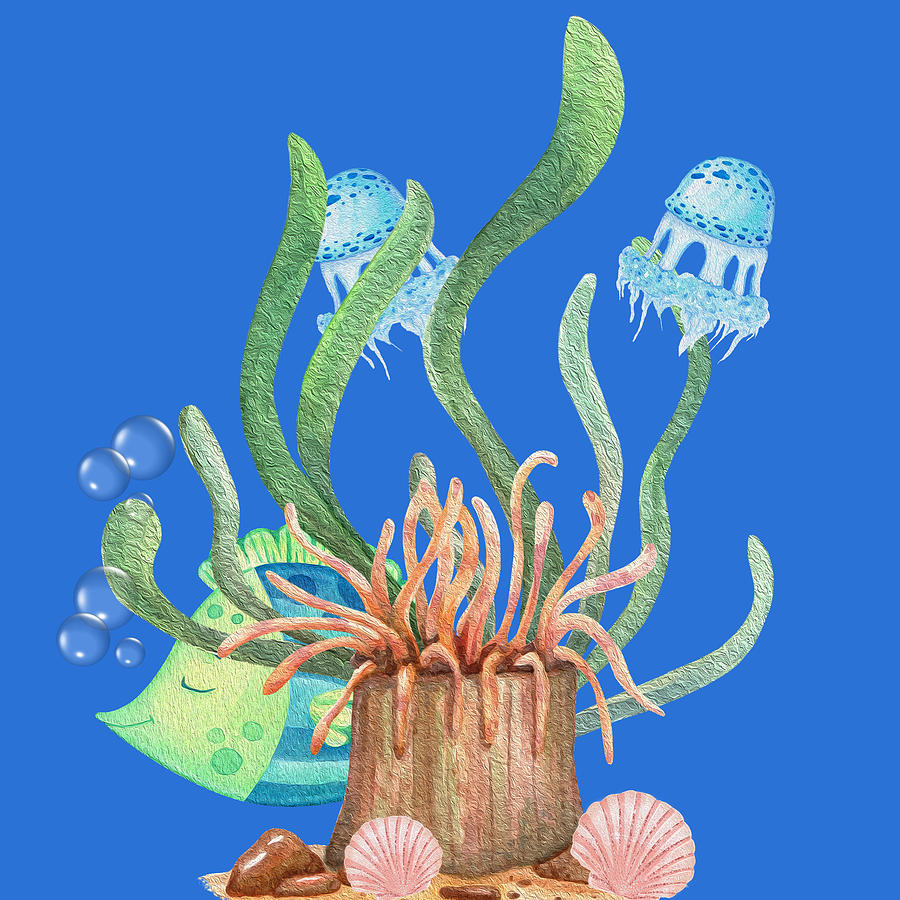 A Lovely Early Morning In The Magical Coral Reef Digital Art