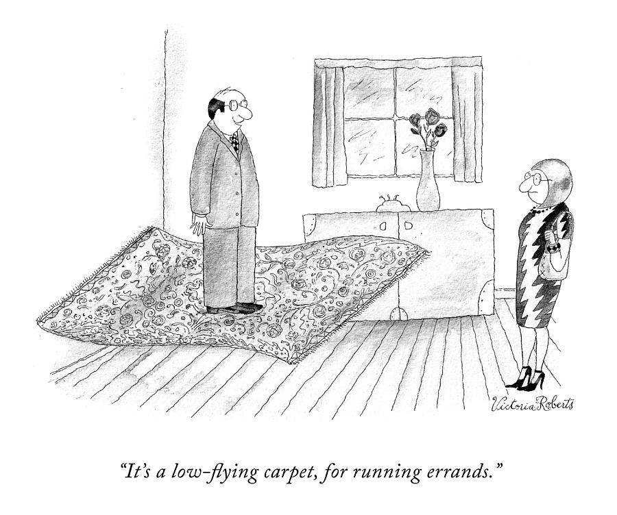 A Low Flying Carpet Drawing by Victoria Roberts