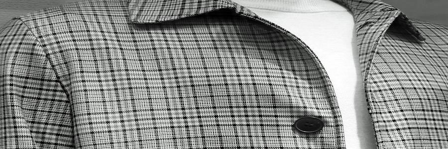 A Mono Plaid Jacket Long Photograph
