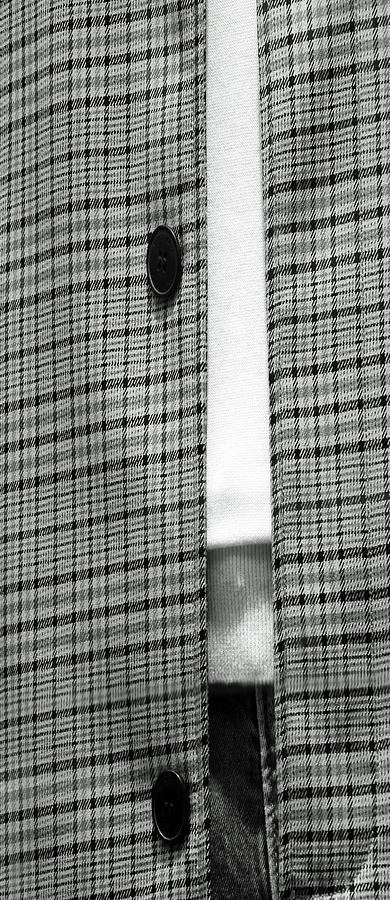 A Mono Plaid Jacket Tall Photograph