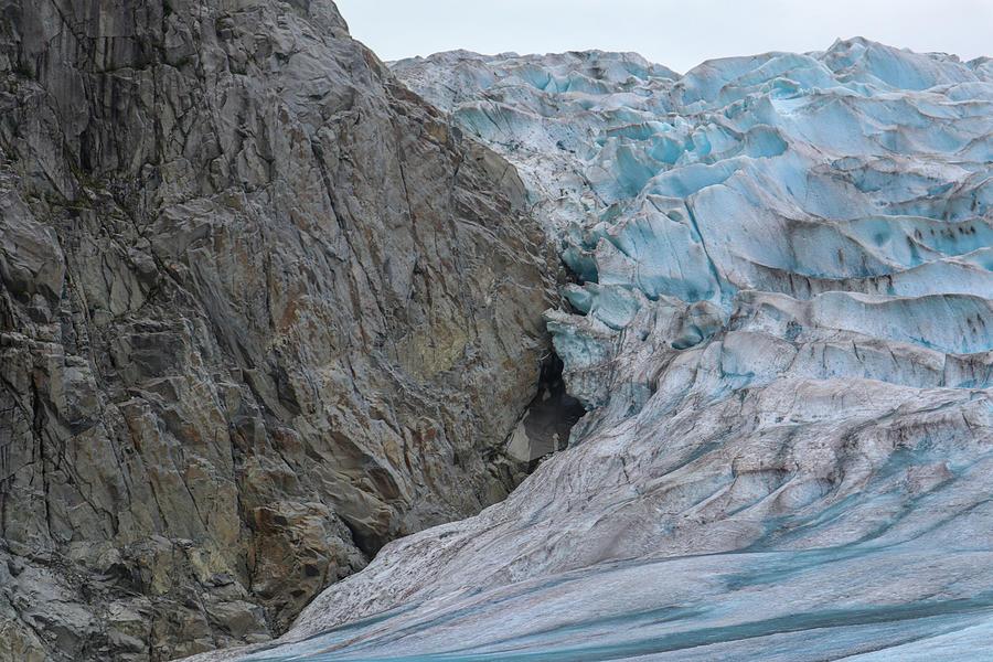 A Mountain-glacier Hug Photograph