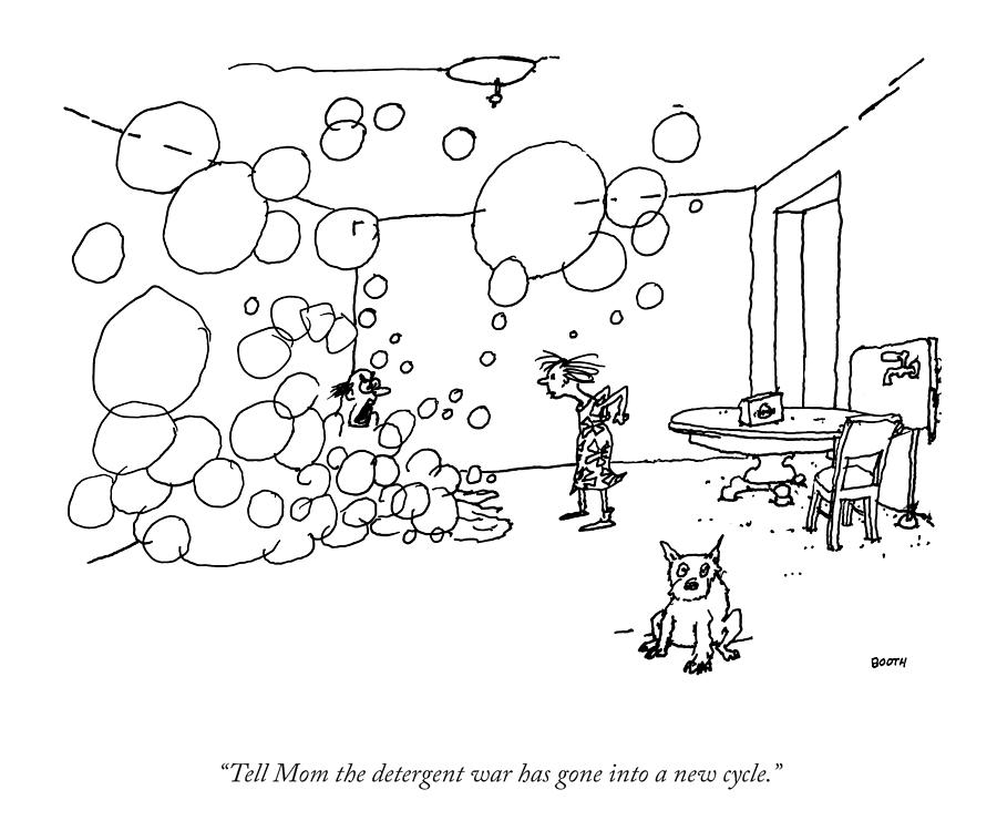 A New Cycle In The Detergent War Drawing by George Booth
