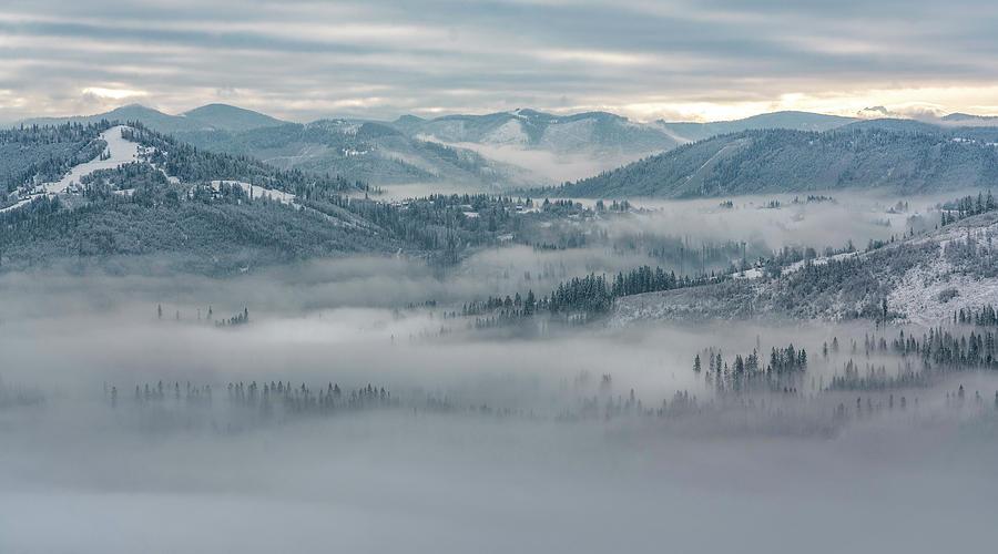 A new snowy day in southern Poland by Jaroslaw Blaminsky