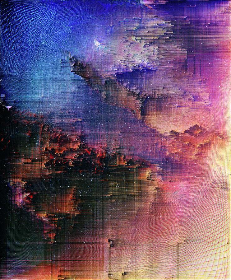 A Night Of Splintering Colour Digital Art by Jenny Filipetti