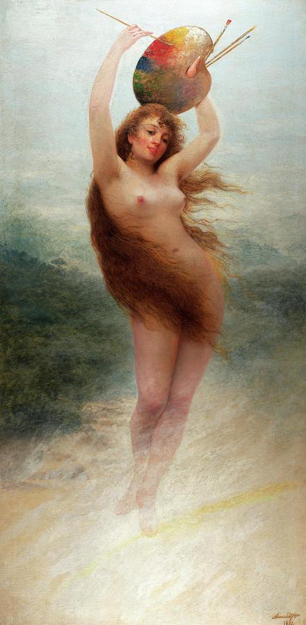 Almeida Painting - A Paint, Allegory, 1892 by Almeida Junior