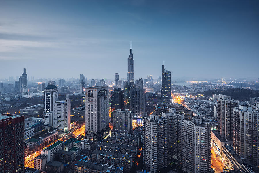 A panoramic view of the nanjing city skyline Photograph by Shunli Zhao