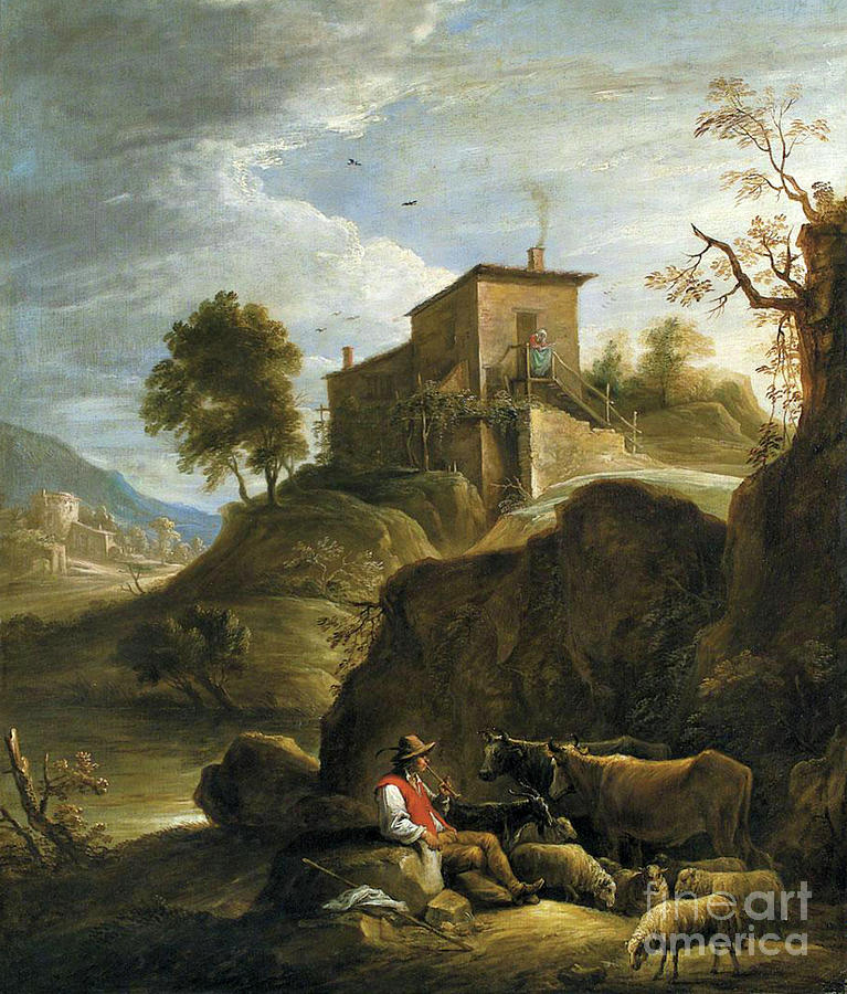 A Pastoral Landscape by David Teniers the Younger