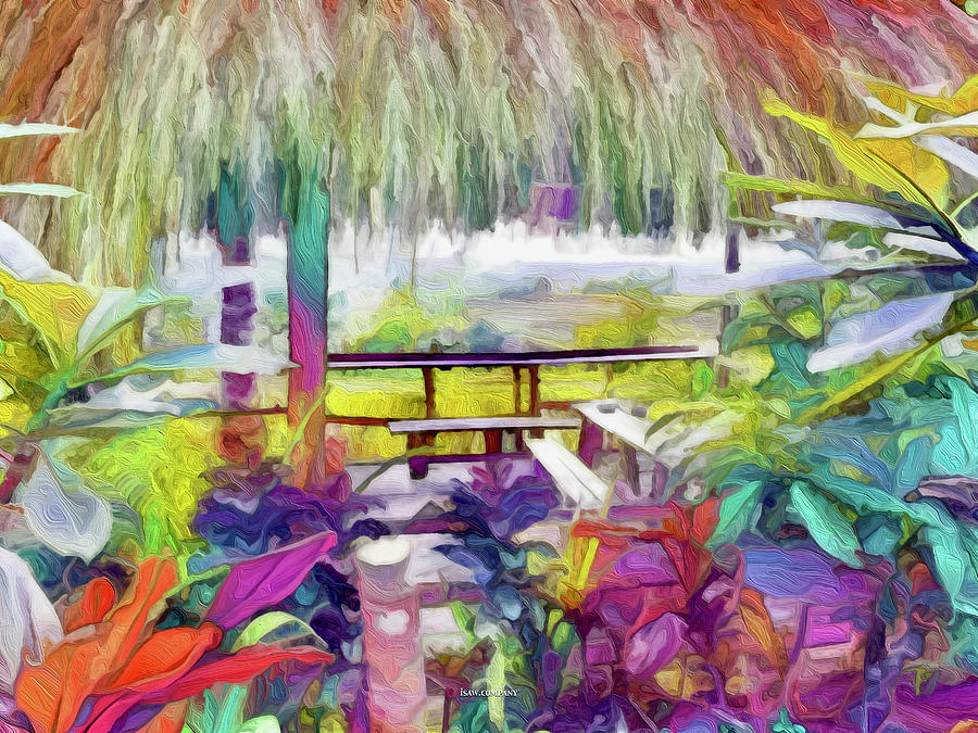 A Peek Into Paradise Colour Painting