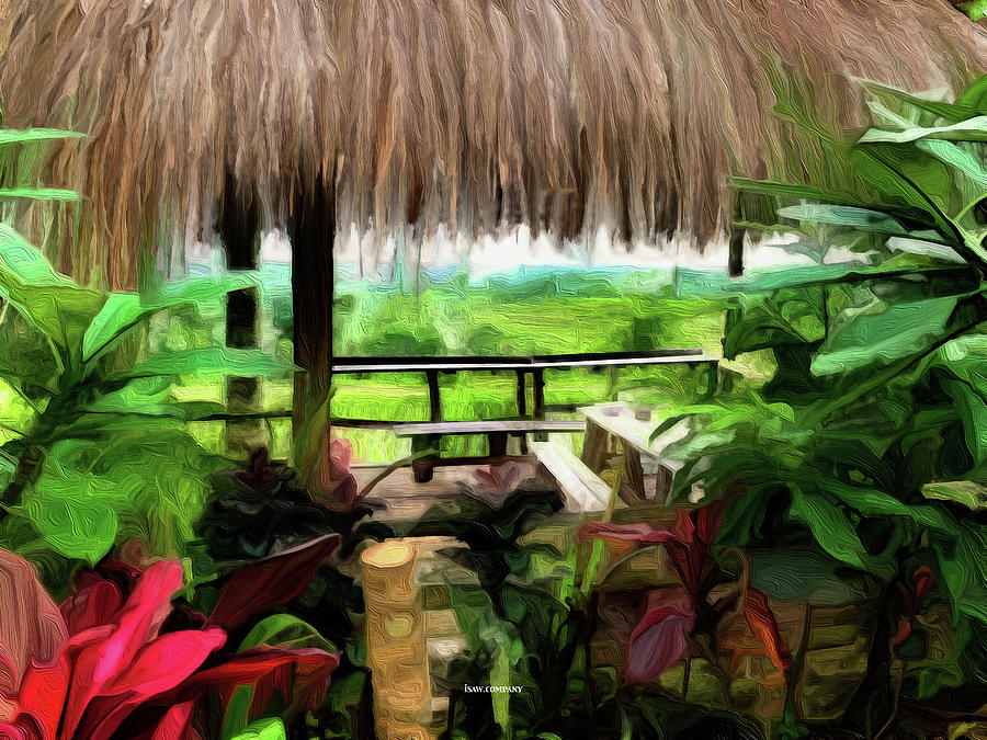 A Peek Into Paradise Green Painting