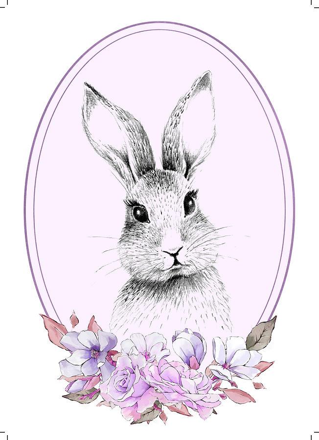 A Perfect Bunny Mixed Media