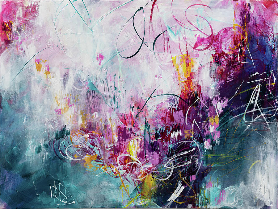 Abstract Painting - A Perfect Day by Lynda Goldman