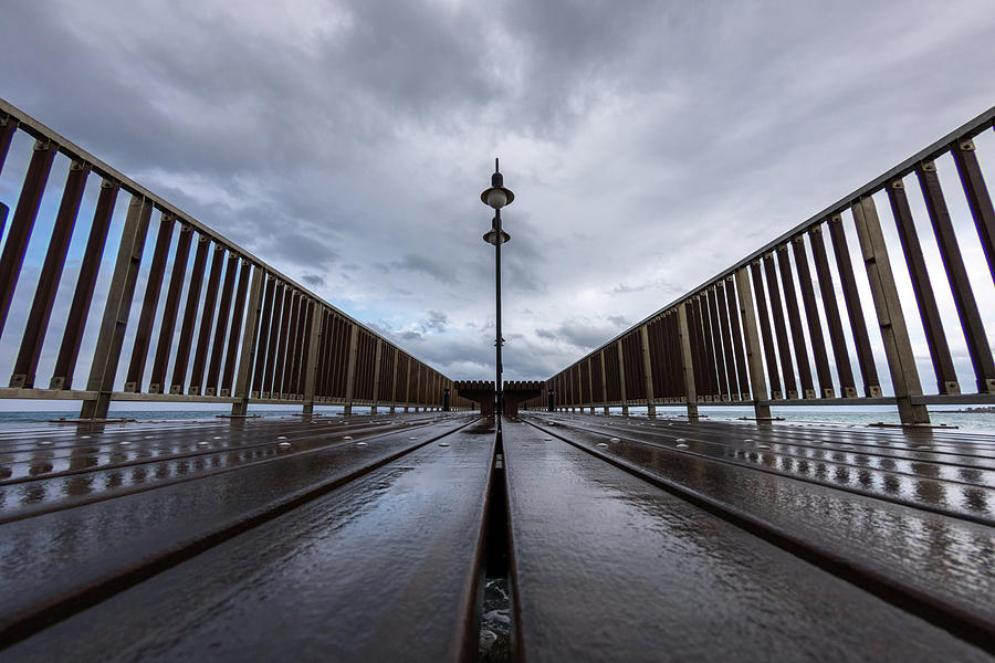 A Pier In The Clouds Photograph