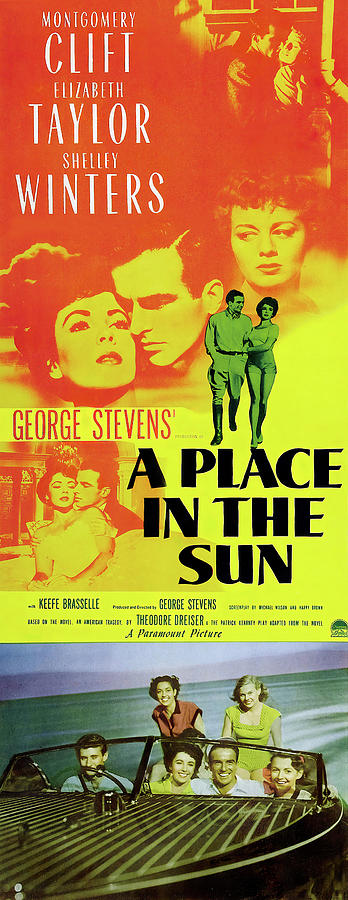 a Place In The Sun 2, With Montgomery Clift And Elizabeth Taylor, 1951 Mixed Media