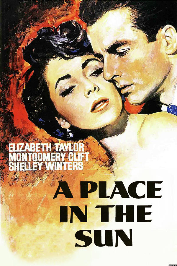 a Place In The Sun Movie Poster 1951 Mixed Media