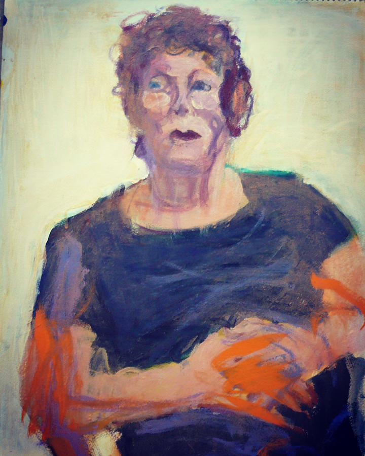 Middle-aged Woman Painting - A Portrait of Jean by Galya Tarmu