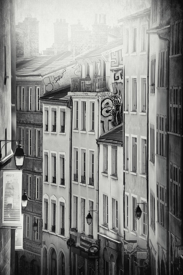 A Portrait Of Old Lyon France In Black And White Photograph
