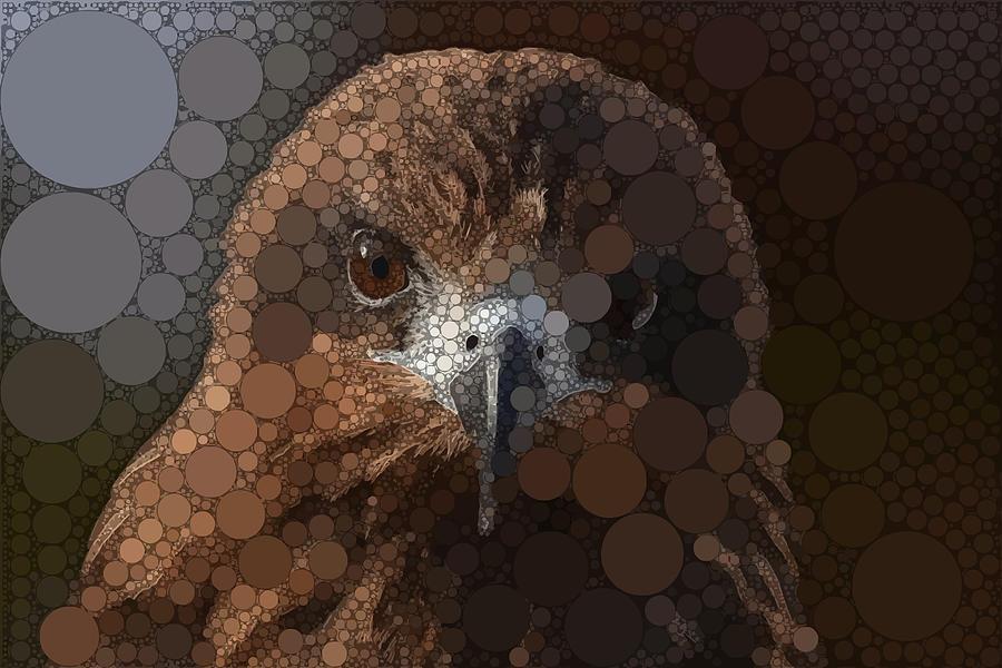 Brown Digital Art - A Quiet Eagle by Dahl Winters