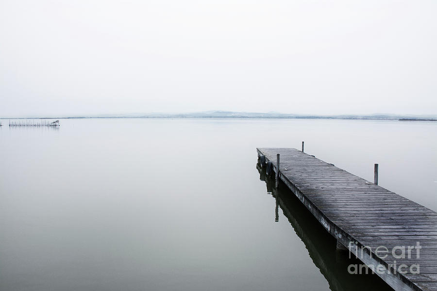 Horizon Photograph - A Quiet Jetty by Vicente Sargues