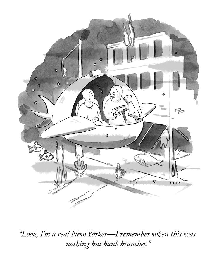A Real New Yorker Drawing by Emily Flake