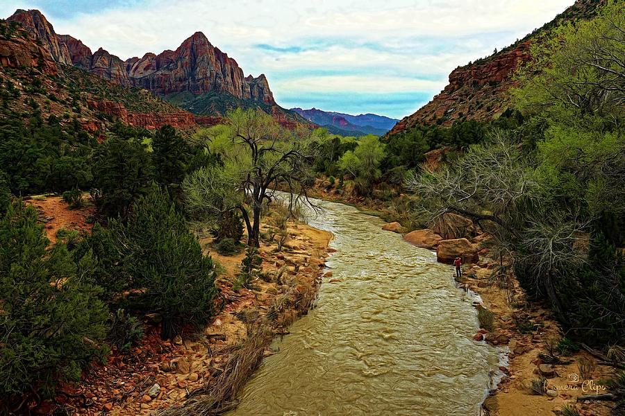 Mountain Photograph - A River Runs Through by Brian Peck