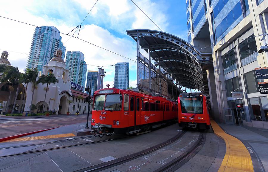 A Santa Fe Trolley Station, San Diego, Ca, Usa Photograph