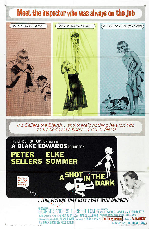 a Shot In The Dark, With Peter Sellers And Elke Sommer, 1964 Mixed Media