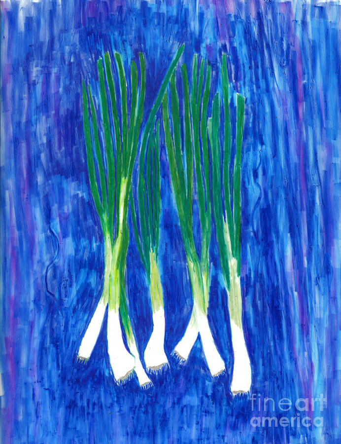 A Sign Of Spring - Green Onions Painting