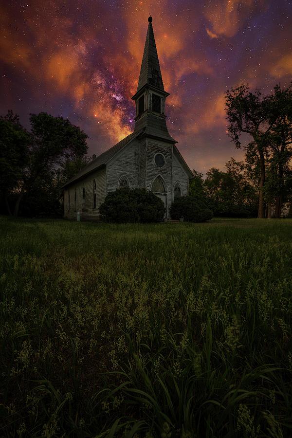Church Photograph - A Singularity by Aaron J Groen