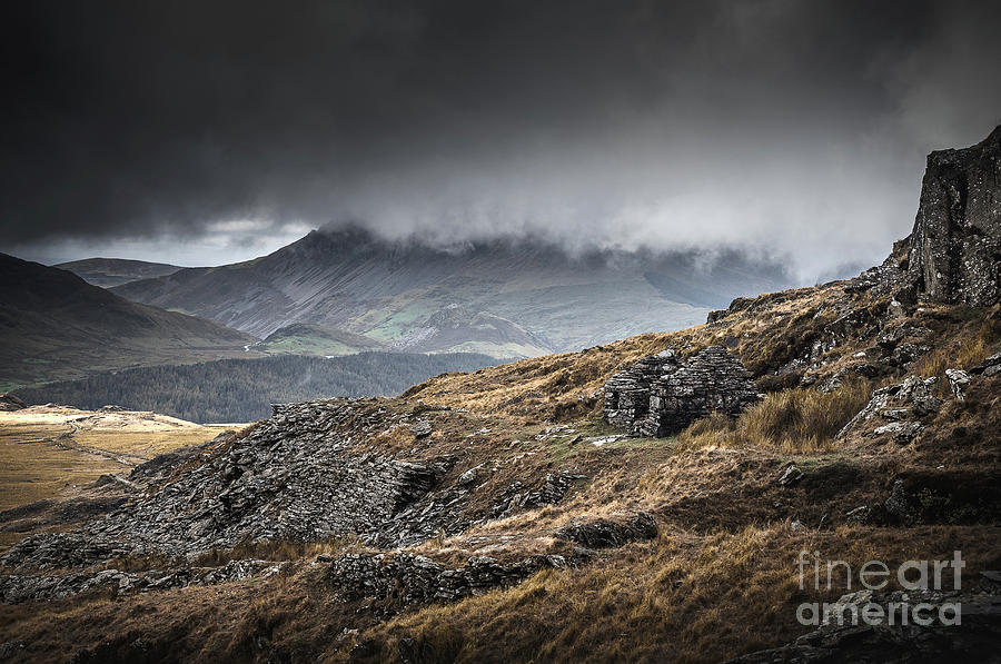 A Slate House In The Hills Of Snowdonia National Park Photograph